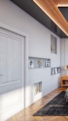 Room Design Bedroom, Home Room Design, Master Bedroom, Bedroom Decor, Modern Luxury Bedroom, Luxurious Bedrooms, New Kitchen Interior, New Ceiling Design, Tv Wand