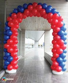 blue and red balloon arch! Superhero Party Decorations, Balloon Decorations, Blue Balloons, Red Balloon, Balloon Columns, Balloon Arch, Deco Ballon, Balloon Flowers, Glow Party