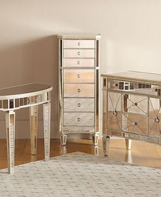 Marais Accent Furniture Collection Mirrored Furniture Macy S
