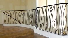 rambarde fer forge interieur mezzanine Plus Loft Railing, Front Porch Railings, Stair Railing, Door Design, House Design, Metal Garden Gates, Iron Staircase, Cafe Interior Design, Wrought Iron Gates