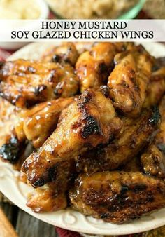 Impress your guests at any entertaining occasion with these delicious Honey Mustard Soy Glazed Chicken Wings.
