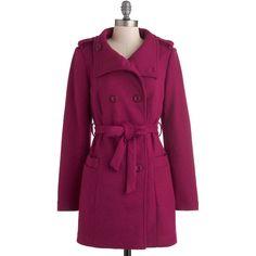 Ladakh Raspberry Parade Coat ($43) found on Polyvore