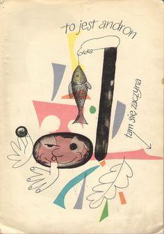 Interior illustrations by Wojciech Zamecznik from On the islands Bergamutach. Author: Jan Brzech. Warsaw, Poland, 1960.