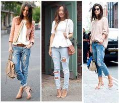 te damos algunas ideas para que combines tus jeans rasgados y sigas la tendencia como una