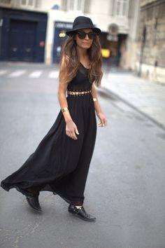 laced midriff black maxi dress