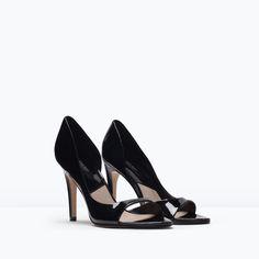 BASIC PEEP TOE SHOES-Heeled sandals-Shoes-WOMAN | ZARA United States