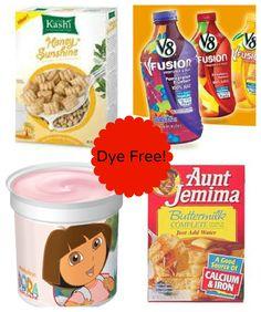 dye free foods.