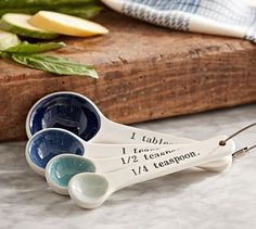 Any home cook can never have too many measuring spoons, especially when they are this pretty. | Gorgeous hostess gifts for under $50: Cool Mom Eats holiday gift guide