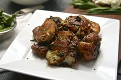 Crispy Smashed Red Potatoes with Fresh Herbs, great healthy substitute for fried breakfast potatoes!
