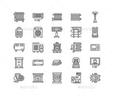 Buy Heaters, Fireplaces Line Icons by nadiinko on GraphicRiver. This is the Set of Vector Line Icons about Heaters. Contains such Icons as Oil Heater, Fireplace, Convector, Panel Co. Kangaroo Drawing, Icon Design, Web Design, Oil Heater, Column Radiators, Automotive Logo, Business Photos, All Icon, Line Icon