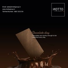 Chocolates are worthy enough to be cherished every day World Chocolate Day..! #Motto #Tiles #mottogroup #Ceramic #FloorTiles #slabtiles #CeramicTiles #CeramicTile #SlabTile #Slab #Tile #Marbles #MarblePlus #SlimTiles #WorldChocolateDay #ChocolateDay #Chocolate #Day #ChocolateDay2020 #Chocolatelover Chocolate Day, Chocolate Lovers, International Days, Marbles, Motto, Chocolates, Tiles, Surface, World