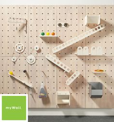 Custom toy sets designed for our myWall panels for STEM learning and play. Plastic toys are machine washable for easy cleaning. Best pegboard walls on the market. Peg Wall, Photowall Ideas, Interactive Walls, Stem Learning, Patio Interior, Wall Storage, Storage Area, Commercial Interiors, Kid Spaces