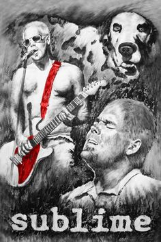 Sublime/Bradley Nowell punk rock oil painting by Travis Knight