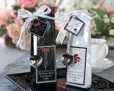 These personalized coffee wedding favors are a charming gift for your wedding guests. Coffee favors are to be enjoyed and savored in memory of your wedding day. Coffee Favors, Coffee Wedding Favors, Tea Favors, Edible Favors, Edible Wedding Favors, Personalized Wedding Favors, Personalized Tags, Modern Wedding Favors, Winter Wedding Favors