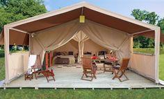 Namiot Safari - zaprojektowany w afrykańskim stylu zaskakuje funkcjonalnością i wygodą.  http://www.eurocamp.pl/zakwaterowanie/namiot-safari