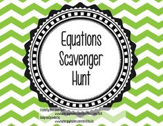 This scavenger hunt is a great way to get students up out of their seats and moving around the classroom. It includes 2 step equations and equations that require use of the distributive property