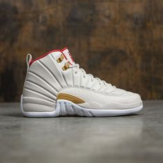 0a50222b0589 Jordan Big Kids AIR JORDAN 12 RETRO CNY GG (white   red) Air Jordan