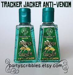 lovely idea! - tracker jacker anti-venom hand sanitizer!