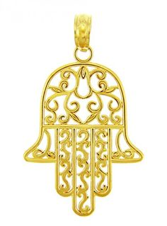 14k Yellow Gold Jewish Hamesh Hand Filigree Charm Hamsa Pendant.More info for pretty small necklaces;statement necklaces;popular ladies necklaces;pretty necklaces for women;rose gold necklaces for women could be found at the image url.(This is an Amazon affiliate link and I receive a commission for the sales)