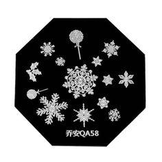 Nail Art Stamp Stamping Template Plate Cute Snowflake Nail Tool Design