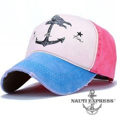 Anchor Snapback Cap for Women - NautiExpress.com Mens Caps 240f4b79a4f6