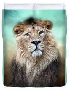 Lion Power Duvet Cover by Marco Fischer