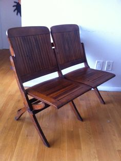 Vintage wooden folding theatre seats for sale Iron Furniture, Theater Seating, Mudroom, Wrought Iron, Theatre, Chair, Reading, House, Vintage