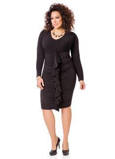 6bd1f2491fb Ruffle Front Dress Curvy Girl Fashion