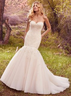NEW ARRIVAL   Maggie Sottero   Party Dress Express   657 Quarry Street   Fall River, MA   508-677-1575    #Strapless #mermaid #MaggieSottero #WeddingGown