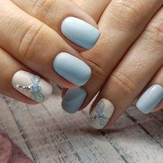Ideas For Nails Acrylic Classy Nailart Shellac Nails, Nail Manicure, Diy Nails, Acrylic Nails, Spring Nail Art, Spring Nails, Fancy Nails, Pretty Nails, Dragonfly Nail Art