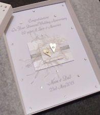 Luxury Boxed Handmade Personalised 60th Diamond Wedding Anniversary Card