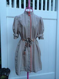 Shraeder Sport, New York Size M Tie Waist Dress or Blouse Multi-Color #SchraderSport #Blouse #Career