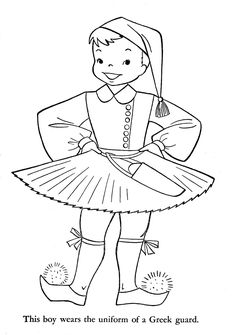 "iColor ""Little Kids Around The World"" ~ Greece School Coloring Pages, Colouring Pages, Coloring Books, Free Coloring, Coloring Pages For Kids, New Zealand South Africa, Sue Sunbonnet, World Thinking Day, Kids Around The World"