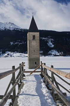 Curon Venosta, Italy, South Tyrol, Trentino-Alto Adige