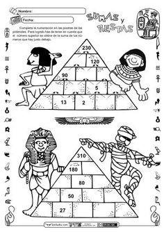 Cálculo reflexivo: sumas y restas Más Math Enrichment, Math Literacy, Math Classroom, Teaching Math, Ancient Egypt Crafts, Ancient Egypt For Kids, Educational Activities For Kids, Math Activities, Abacus Math