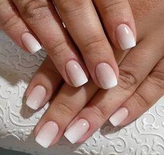 Wedding nails french manucure, french tip nails, ombre french nails, bride Ombre French Nails, French Tip Nails, Bridal Nails French, Cute Nails, Pretty Nails, Nails Ideias, Hair And Nails, My Nails, Long Nails