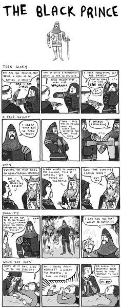 Historical or literary short comics