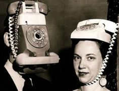 Maybe this is where Lady Gaga thought of putting phones on her head? eh eh??? =P