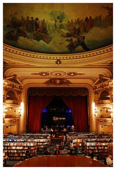 """libreria """"el ateneo"""", buenos aires, argentina ~~voted as the second most beautiful Bookshop in the world"""