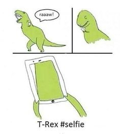 For those who are anti #selfie stick just remember: we wouldn't have known what the T-Rex looked like without it. #selfies #funny #rawr #history by kimpostercosplay