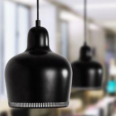 Bell Pendant Lamps by Artek Lamp Design, Diy Design, Ceiling Lamp, Ceiling Lights, Cool Calendars, Alvar Aalto, Black Lamps, Light Fittings, Scandinavian Interior