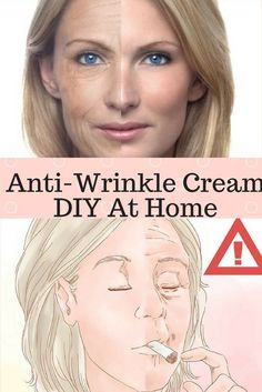 Wrinkles will eventually occur on your face. To avoid their visibleness we have prepared this article for you. This is the Anti-Wrinkle Cream you can do at home! Here Is How to Prepare It: Natural Face Cream, Wrinkle Remedies, Face Cream For Wrinkles, Face Creams, Cellulite Scrub, Anti Wrinkle, Wrinkle Creams, Anti Aging Treatments, Wrinkle Remover