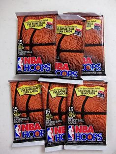 1991-92 Hoops Series 2 Basketball Cards 6 Pack Lot Unopened NBA Collectibles #NBA