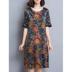 SHARE & Get it FREE | Flowers Print Loose Fitting Shift DressFor Fashion Lovers only:80,000+ Items·FREE SHIPPING Join Dresslily: Get YOUR $50 NOW!