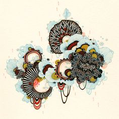 yellena james - gallery - thistle Beautiful design based on a thistle Illustrations, Illustration Art, Impression Grand Format, Yellena James, Creative Artwork, Ink Art, Prints For Sale, Oeuvre D'art, Giclee Print