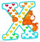 ❤️Care Bears and Friends ~ The Letter X