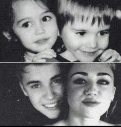 Justin Bieber and Miley Cyrus  FREAKIN adorable ¤