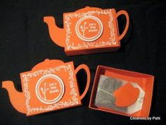 DIY Teapot Matchbox Tutorial -This is such a cute idea for my tea-loving husband and friends :)!