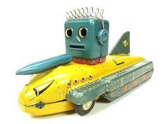 Japanese 1950 Antique Robot Spacecraft Space Tin Toy