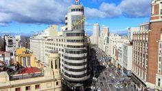 La Gran Vía de Madrid Madrid, Barcelona, Tower, Building, Travel, Viajes, Computer Case, Buildings, Barcelona Spain